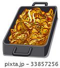 焼いた 焼く ジャガイモのイラスト 33857256