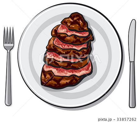 cooked beef steak 33857262