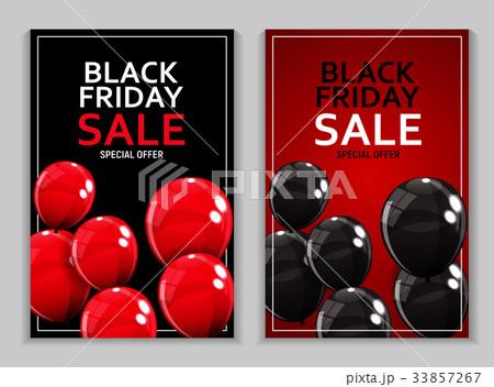 Black Friday Sale Banner Template. Vectorのイラスト素材 [33857267] - PIXTA