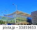 晴天下の羽田空港国際線ターミナル 33859653