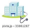 病院と聴診器 33861287