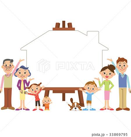 三世代家族 キャンパス 家  33869795