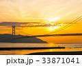 夕景 橋 明石海峡大橋の写真 33871041