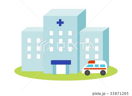 病院と救急車 33871265