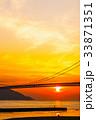 夕景 橋 明石海峡大橋の写真 33871351