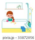 風呂掃除 女性 浴室のイラスト 33872056