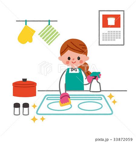 キッチン 台所 掃除 33872059