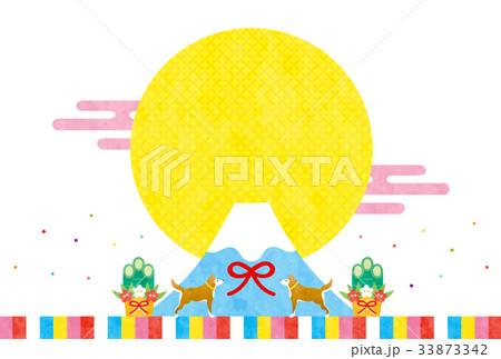 戌年素材-初売り(文字なし) 33873342