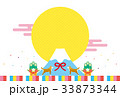 戌年素材-初売り(文字なし) 33873344
