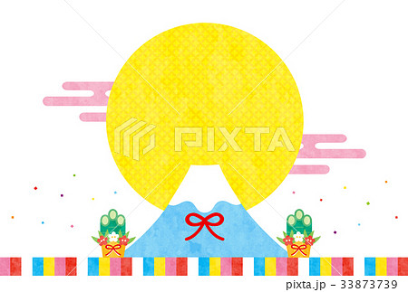 戌年素材-初売り(文字なし) 33873739