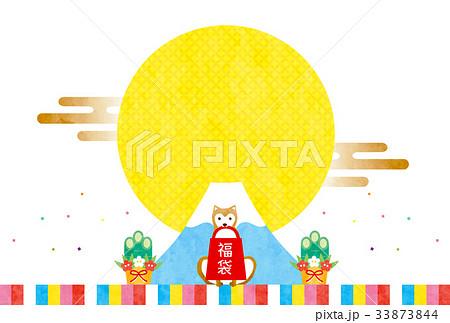 戌年素材-初売り(文字なし) 33873844