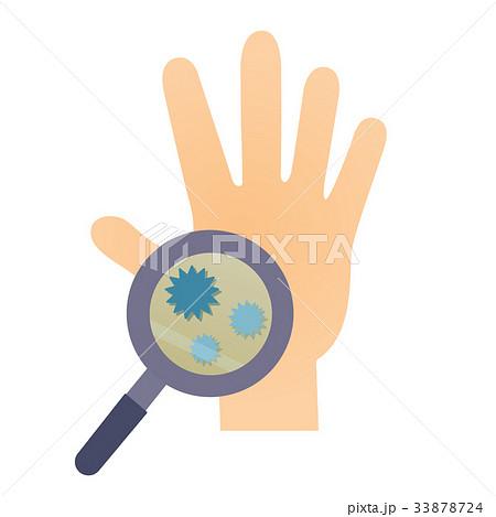 虫眼鏡手ばい菌 33878724