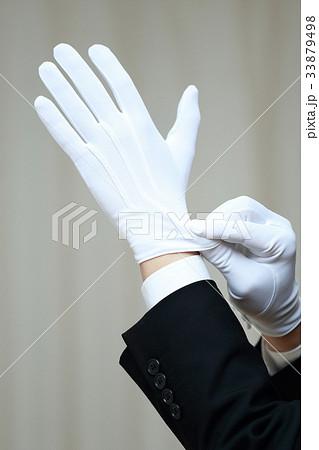 白手 白手袋 (男性 仕事 ビジネスマン 鑑定士 鑑識 運転手 質屋 調査 犯罪 警察 査定 葬儀) 33879498