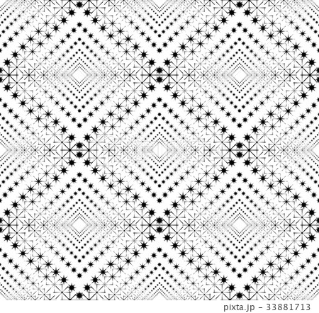 Black and white geometric seamless patternのイラスト素材 [33881713] - PIXTA