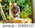 ウッド 木材 人の写真 33883127