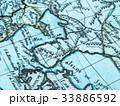 古地図 朝鮮半島 33886592