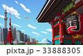 東京 雷門 町並みのイラスト 33888305