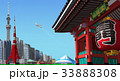 東京 町並み 雷門 青空 33888308