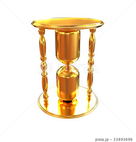Golden Hourglass. 3d illustrationのイラスト素材 [33893696] - PIXTA