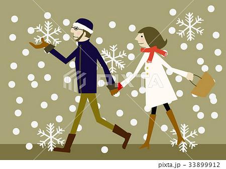 冬のイメージ カップル 散歩 33899912