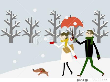 雪景色 冬のイメージ 恋人 33900262