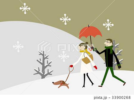 雪景色 冬のイメージ 恋人 33900268