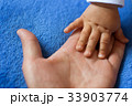 Children's hand on the palm of a woman 33903774