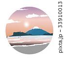 江の島 夜明け イラスト 33910013