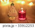 クリスマスツリー キャンドル 蝋燭の写真 33912253