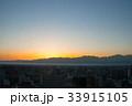 富山市内からの朝日 33915105