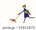 コート 女性 冬のイラスト 33915672