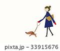 コート 女性 冬のイラスト 33915676