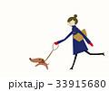 コート 女性 冬のイラスト 33915680