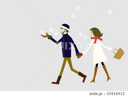 雪のイメージ 冬服の恋人 33916415