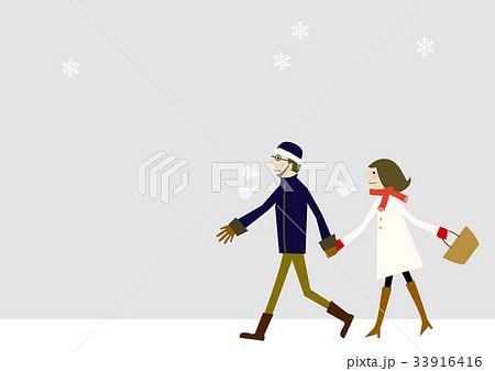 雪のイメージ 冬服の恋人 33916416