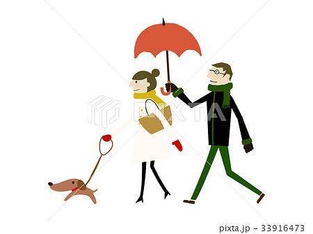 冬着のカップル 冬のイメージ 33916473