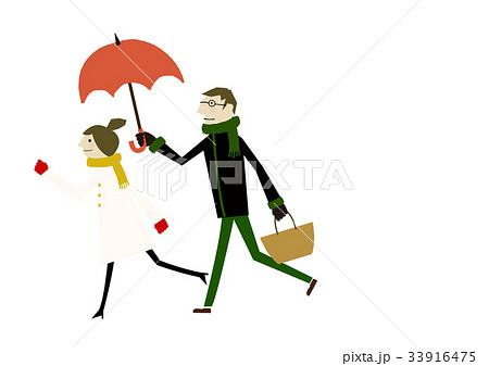 冬着のカップル 冬のイメージ 33916475
