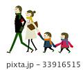 冬服の家族 冬のイメージ 33916515