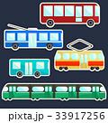 バス 交通 貼り紙のイラスト 33917256