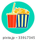 lovely fast food couple - cola and popcorn 33917345