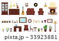 家具 インテリア アイコンのイラスト 33923881