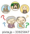 シニア 心配 夫婦のイラスト 33925847