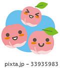 桃 果物 親子のイラスト 33935983