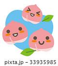 桃 果物 親子のイラスト 33935985