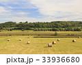 干し草 木 田畑の写真 33936680