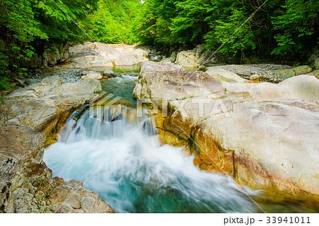天ノ川渓谷、天の川の流れ 奈良県、天川村 33941011