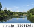 東京風景 皇居 内堀 緑と青空 33944261