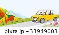 秋 車 ドライブのイラスト 33949003