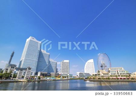 横浜 みなとみらい 都市風景 33950663