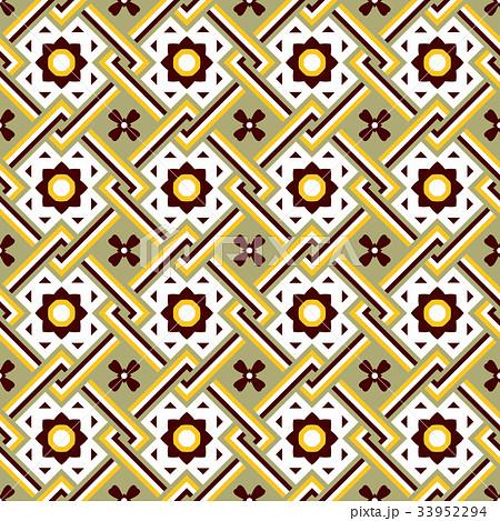 Seamless background vintage retro patternのイラスト素材 [33952294] - PIXTA